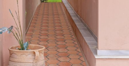 Clay Tiles Pakistan - Hexagon Floor Tiles Terracotta