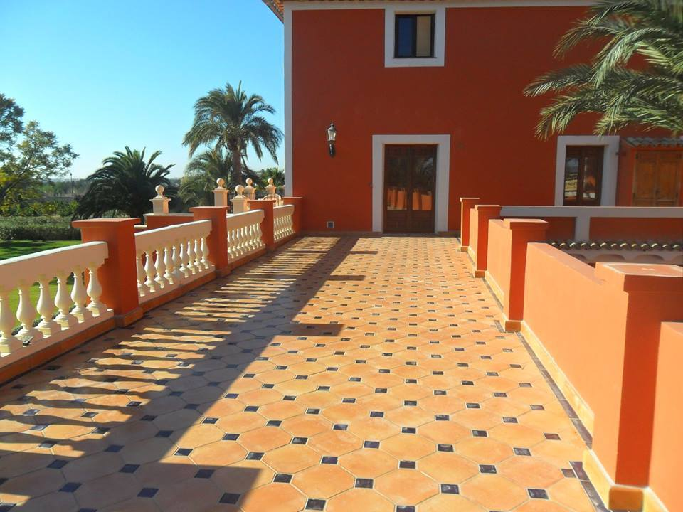Glazed Clay Tiles Pakistan Octagon Terracotta Floor Tiles