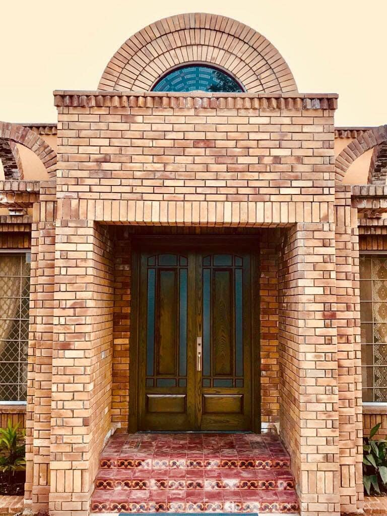 House Exterior Main Gate Brick Tiles in Pakistan
