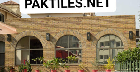 Pak Tiles Yellow Gutka Brick Outdoor Wall Tiles Design Images in Karachi