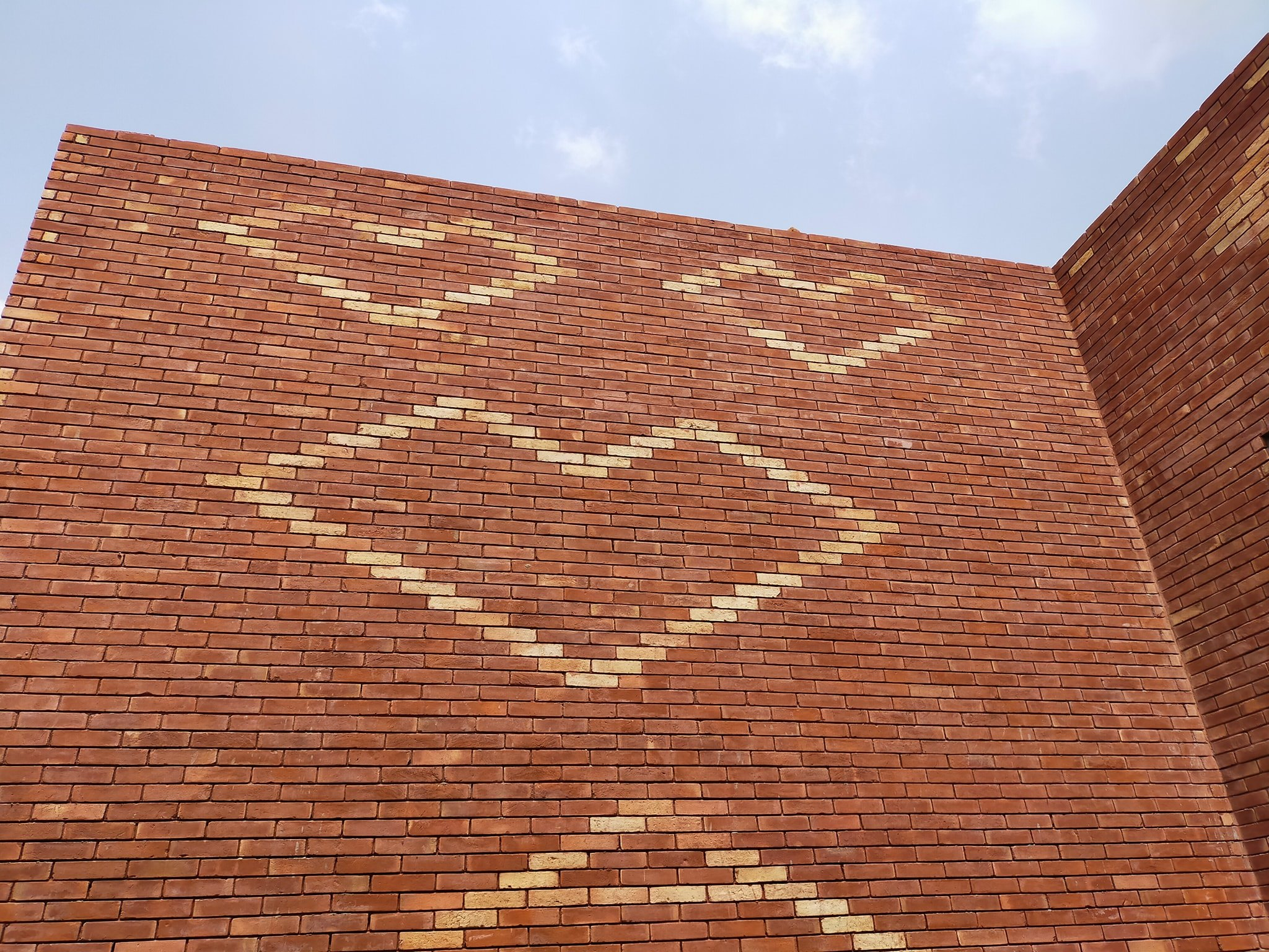 Red brick gutka tile texture