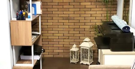 Yellow Gutka Tile Designs Interior Wall Bricks Tiles in Pakistan