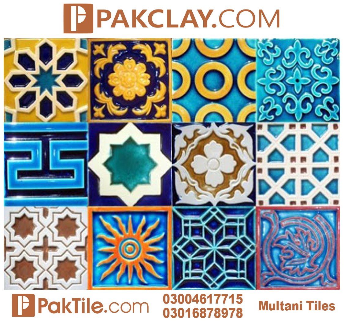 Blue Pak Clay Porcelain Wall Multani Tiles Price