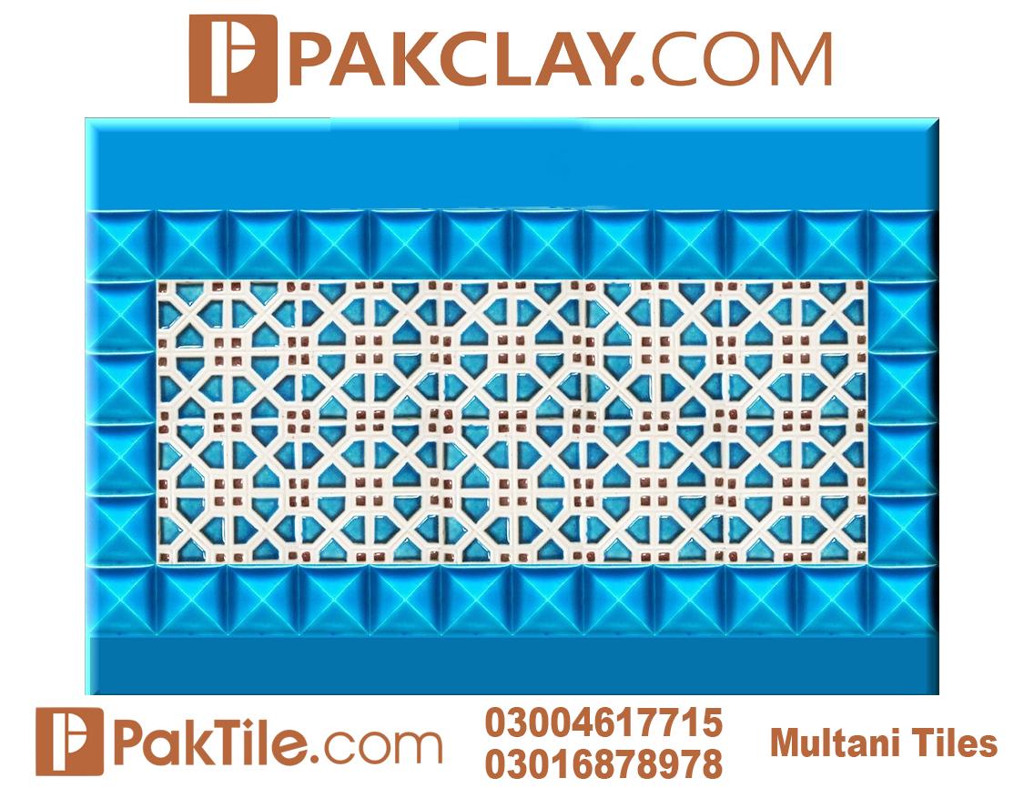 Blue Pak Clay Outdoor Wall Multani Tiles Design