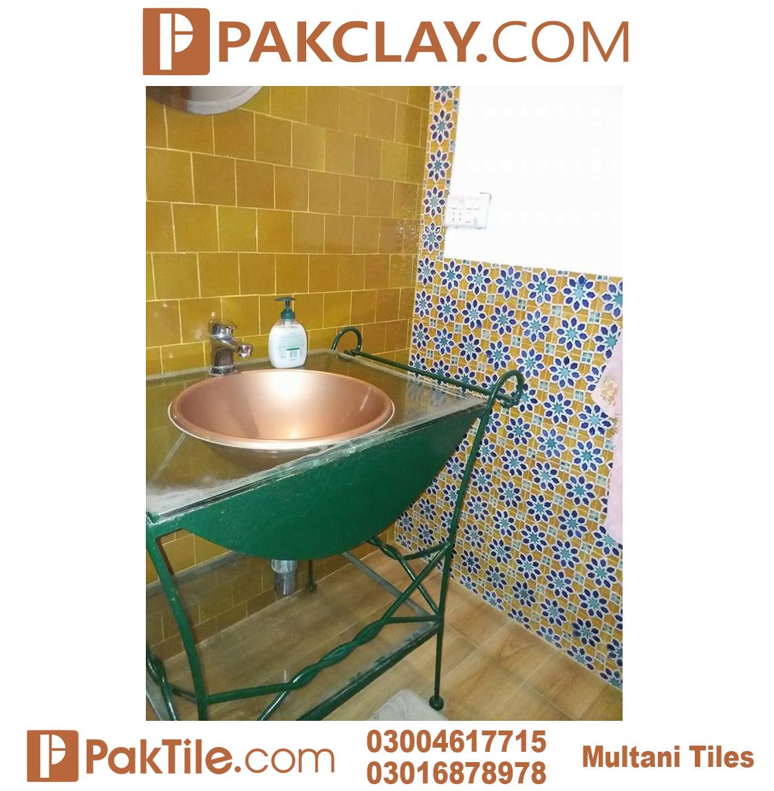 Best Designs Washroom Blue Multani Tiles For Walls