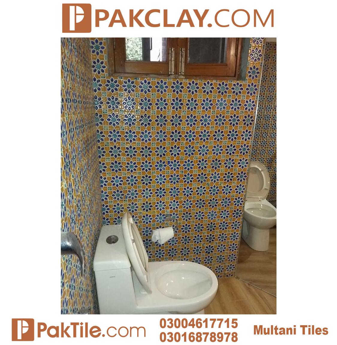 Cheap Price Toilet Blue Multani Tiles For Washroom